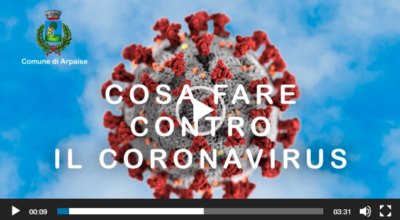 VIDEO – CORONAVIRUS COME PREVENIRE IL CONTAGIO