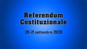 AVVISO CONVOCAZIONE COMIZI ELETTORALI- REFERENDUM 20 E 21 SETTEMBRE 2020