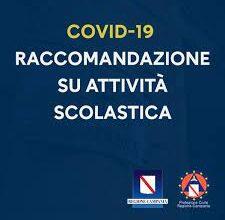 COVID-19 ATTO DI RICHIAMO DISPOSIZIONI CONCERNENTI L'ATTIVITA'DIDATTICA SCOLASTICA SUL TERRITORIO REGIONALE.