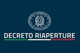 DECRETO RIAPERTURE LE MISURE DEL GOVERNO DAL 26 APRILE 2021